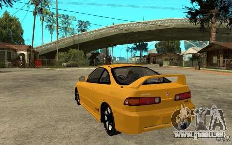 Honda Integra Spoon Version für GTA San Andreas zurück linke Ansicht