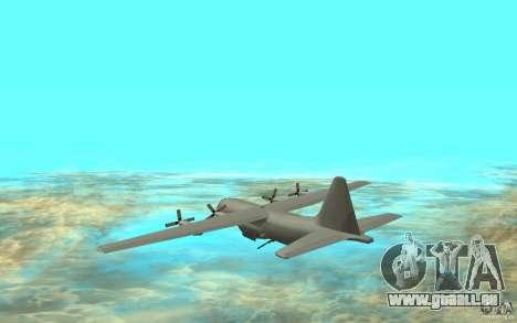C-130H Spectre pour GTA San Andreas sur la vue arrière gauche