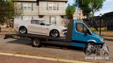 Mercedes-Benz Sprinter 3500 Car Transporter pour GTA 4 est une gauche