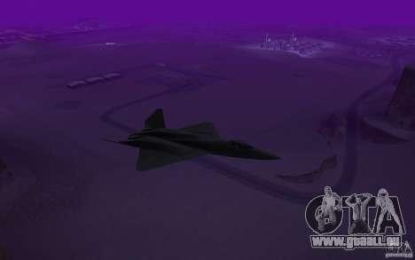 YF-23 pour GTA San Andreas sur la vue arrière gauche
