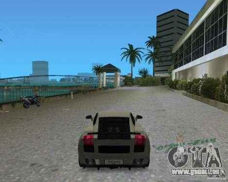 Lamborghini Gallardo Superleggera für GTA Vice City zurück linke Ansicht