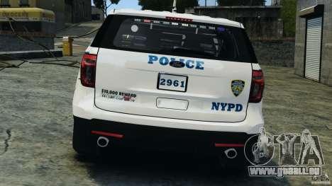 Ford Explorer NYPD ESU 2013 [ELS] für GTA 4 Unteransicht