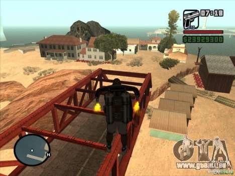 Jetpack spawner pour GTA San Andreas troisième écran