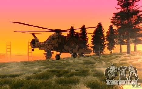 Sikorsky RAH-66 Comanche Camo pour GTA San Andreas laissé vue
