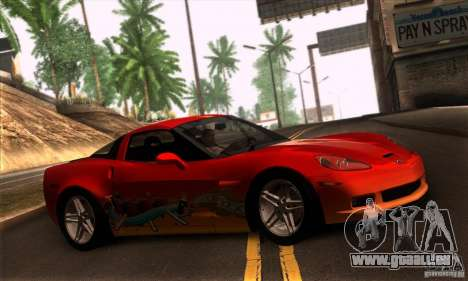 Chevrolet Corvette Z06 pour GTA San Andreas vue de côté