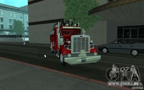 Peterbilt 379 Fire Truck ver.1.0 pour GTA San Andreas vue arrière