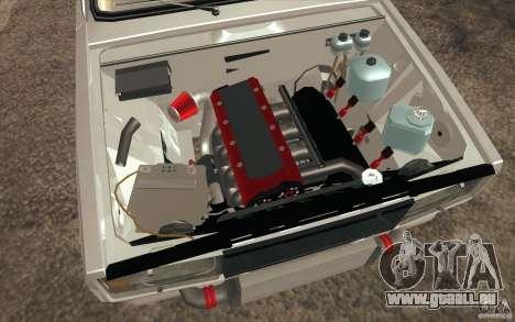 Dérive de Vaz Lada 2107 pour GTA San Andreas vue de dessous