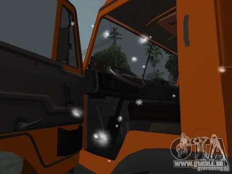 KAMAZ 53215 pour GTA San Andreas vue intérieure