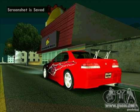 Honda Prelude avec tuning pour GTA San Andreas sur la vue arrière gauche