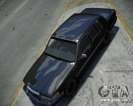 Lincoln Towncar 1991 pour GTA 4 est un droit