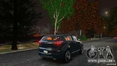 Kia Sportage 2010 v1.0 pour GTA 4 Vue arrière