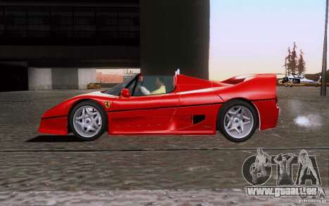 Ferrari F50 v1.0.0 1995 pour GTA San Andreas laissé vue