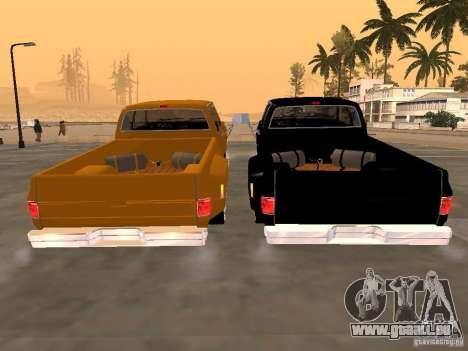 Chevrolet Silverado Lowrider für GTA San Andreas rechten Ansicht