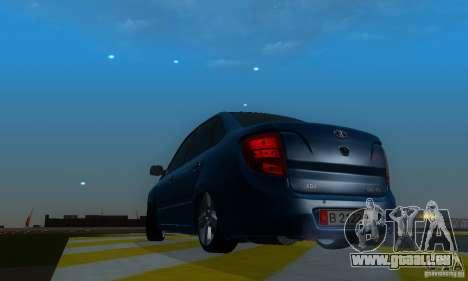Lada Granta Light Tuning pour GTA San Andreas vue arrière