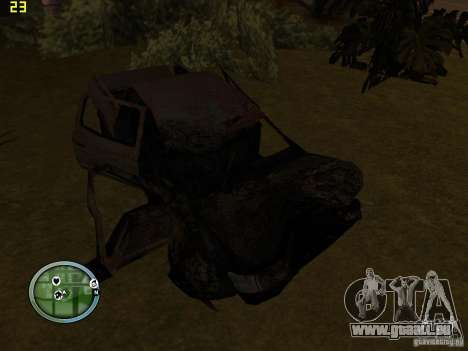 Voitures accidentées sur Grove Street pour GTA San Andreas troisième écran