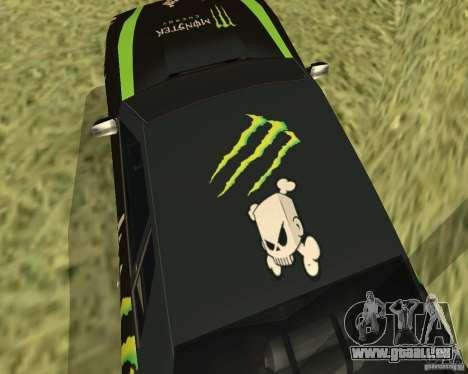 Monster Energy Vinyl pour GTA San Andreas vue arrière