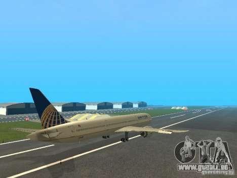 Boeing 787 Dreamliner United Airlines für GTA San Andreas rechten Ansicht