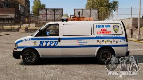 Polizei Speedo für GTA 4 linke Ansicht