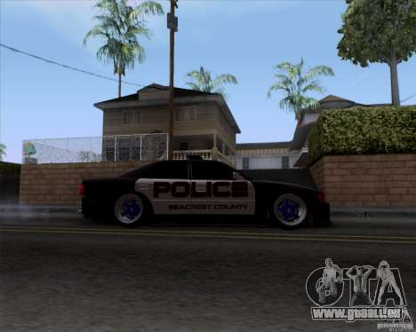 Toyota Chaser jzx100 Drift Police pour GTA San Andreas vue arrière
