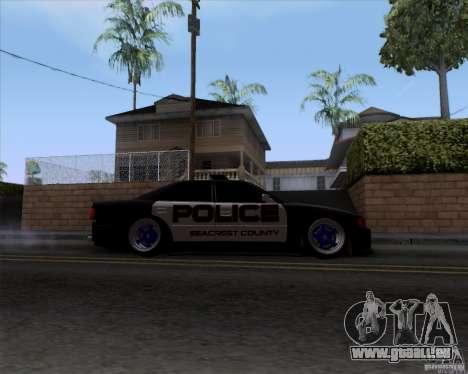 Toyota Chaser jzx100 Drift Police für GTA San Andreas Rückansicht