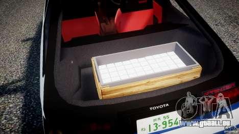 Toyota Trueno AE86 Initial D pour GTA 4 est une vue de dessous