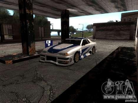 Vinyle avec la BMW M3 GTR dans Most Wanted pour GTA San Andreas laissé vue