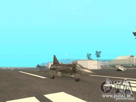 Saab JA-37 Viggen für GTA San Andreas zurück linke Ansicht