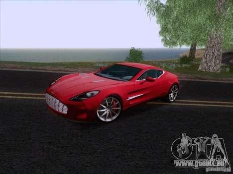Aston Martin One-77 2010 pour GTA San Andreas sur la vue arrière gauche