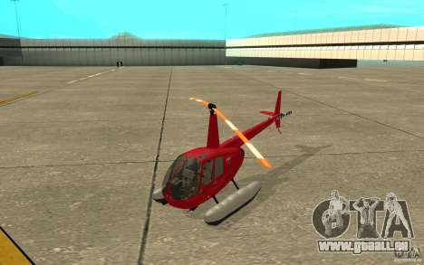 Robinson R44 Clipper II 1.0 pour GTA San Andreas laissé vue