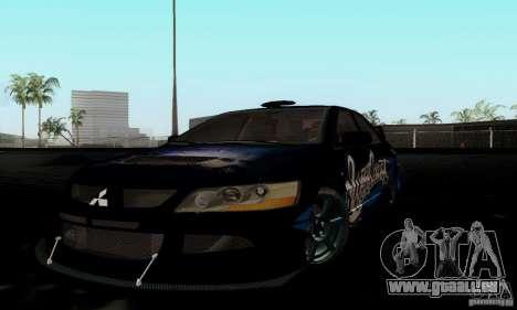 Mitsubishi Lancer Evolution IX pour GTA San Andreas vue arrière