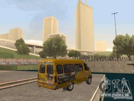 Taxi de la Gazelle pour GTA San Andreas sur la vue arrière gauche