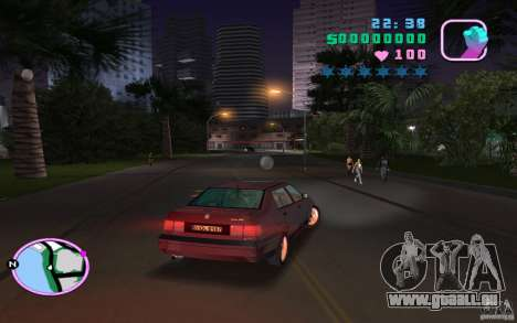 Volkswagen Vento VR6 pour une vue GTA Vice City de la gauche