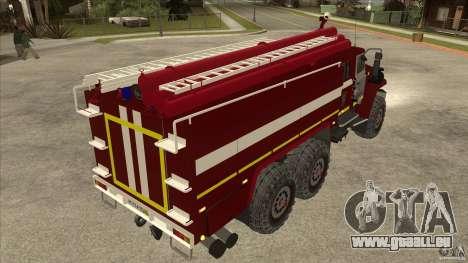 Ural 43206 Feuerwehrmann für GTA San Andreas rechten Ansicht