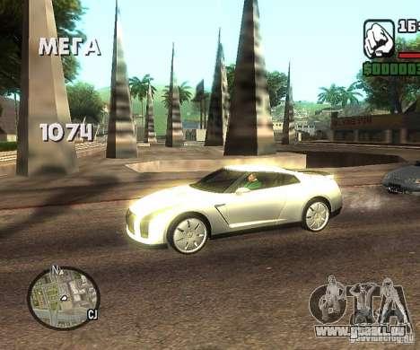 Disques n'importe où pour GTA San Andreas troisième écran