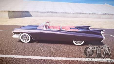 Cadillac Eldorado 1959 interior red pour GTA 4 Vue arrière de la gauche