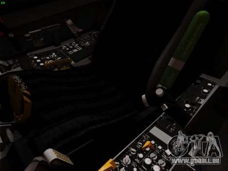 F-16C Warwolf für GTA San Andreas Unteransicht