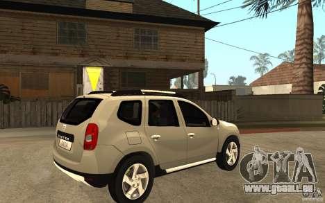 Dacia Duster 2010 SUV 4x4 pour GTA San Andreas vue de droite
