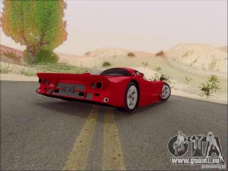Nissan R390 Road Car v1.0 pour GTA San Andreas sur la vue arrière gauche