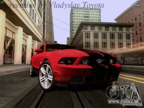 Ford Mustang GT 2011 pour GTA San Andreas vue intérieure