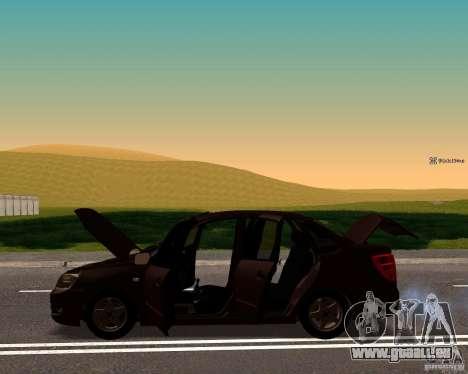 VAZ-2190-Drain für GTA San Andreas zurück linke Ansicht