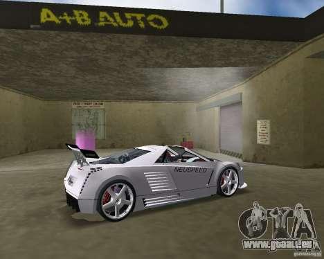 Cadillac Cien Shark Dream TUNING pour GTA Vice City sur la vue arrière gauche