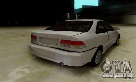 Honda Civic 1999 Si Coupe pour GTA San Andreas salon