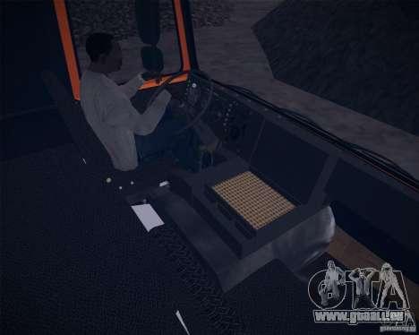 6317 MAZ pour GTA San Andreas vue intérieure