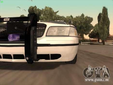 Ford Crown Victoria Vancouver Police pour GTA San Andreas vue de dessous