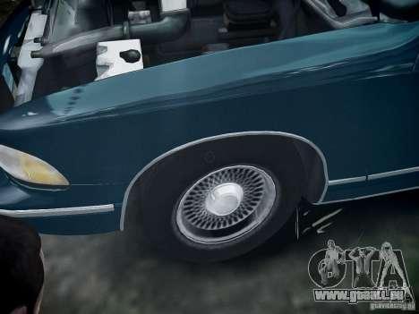 Chevrolet Caprice 1993 Rims 2 pour GTA 4 Vue arrière