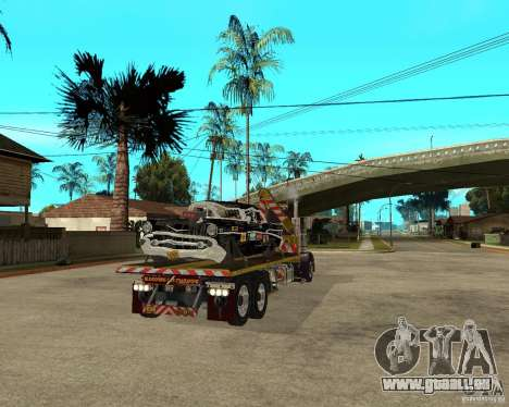 Kenworth W900 SALVAGE TRUCK pour GTA San Andreas sur la vue arrière gauche