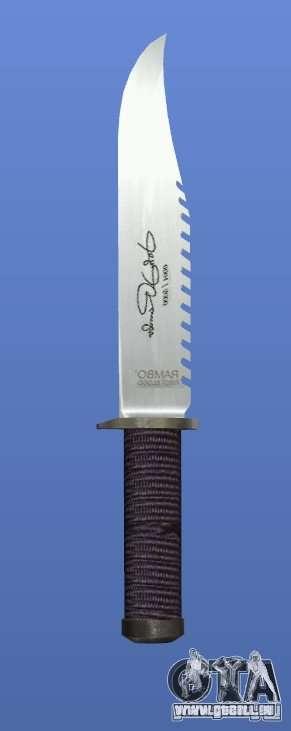 Rambo-Messer mit Signatur für GTA 4 dritte Screenshot