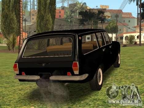 GAZ 24 02-Stoke pour GTA San Andreas sur la vue arrière gauche