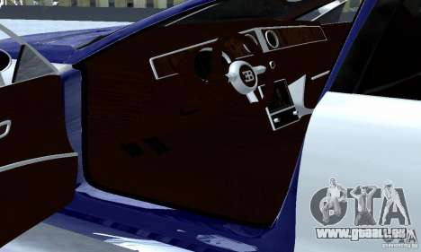 Bugatti Galibier 16c pour GTA San Andreas vue intérieure