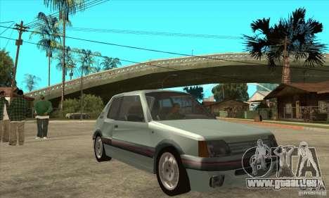Peugeot 205 GTI v2 pour GTA San Andreas vue arrière